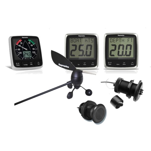 RAYMARINE RAYMARINE i50 & i60 Wind / Speed / Depth - 3 x Instrument  c/w Txd Packs