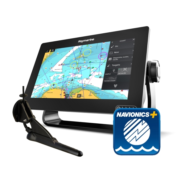 Raymarine Axiom 9 RV - 9 Inch Multi Function Display With RealVision 600W Sounder With CPT-100DVS DownVision TR + Sm Nav+ Chart