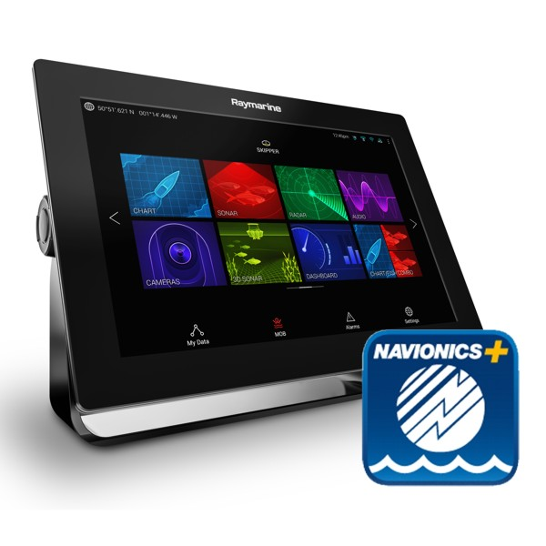 Raymarine Axiom 12 - 12 Inch Multi Function Display With Navionics Plus Small Download Chart