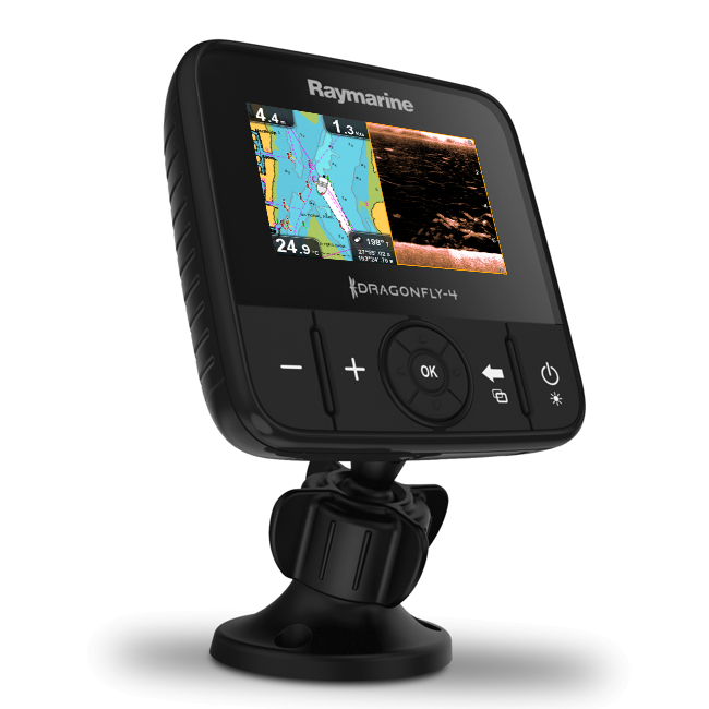 Raymarine Dragonfly 4 PRO 4 Inch Chart Plotter/ DownVision / Chirp Sonar With No Transducer