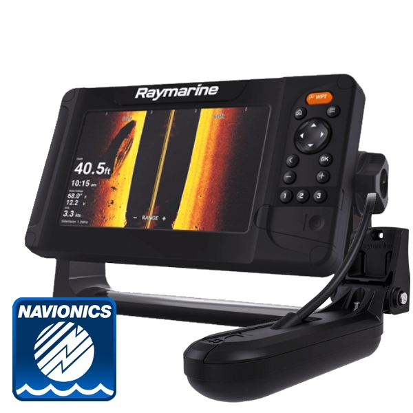 Raymarine Element 7 HV w/ HV-100 Transom Transducer & Navionics PLUS Small Chart
