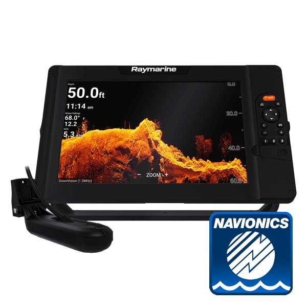 Raymarine Element 12 HV w/ HV-100 Transom Ducer With Navionics PLUS Download Chart