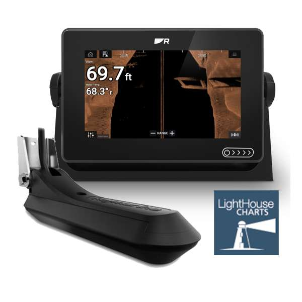Raymarine AXIOM+ 7 RV MFD With With Integrated RealVision 3D Sonar and RV-100 Transducer And LightHouse Download Chart